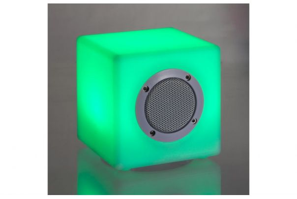 Lampe LED Cubo speaker 15x15cm - Bizzotto