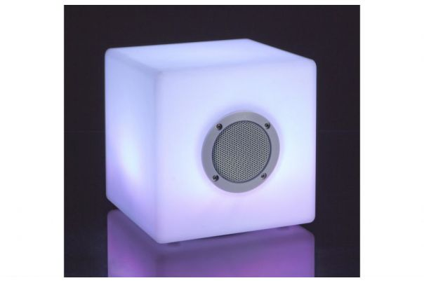Lampe LED Cubo speaker 20x20cm - Bizzotto
