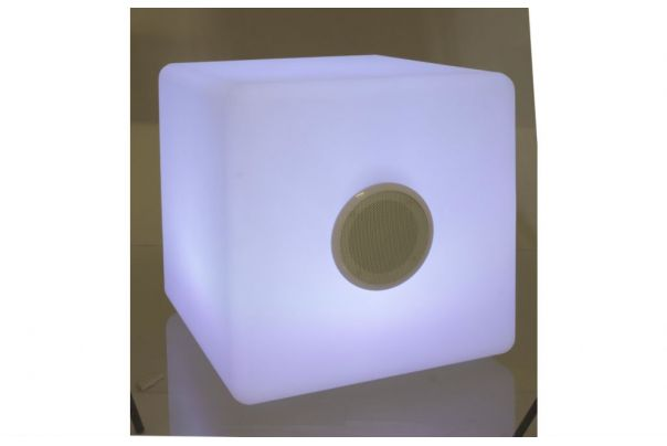 Lampe LED Cubo speaker 40x40cm - Bizzotto